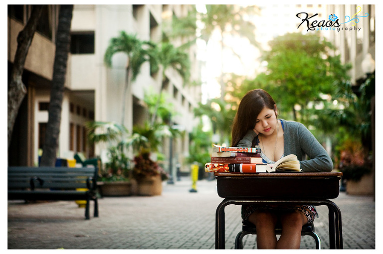 Midkiff library shoot in downtown Honolulu