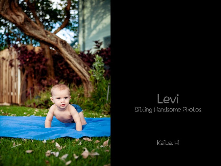 7 month baby boy photos Kailua Hawaii Oahu