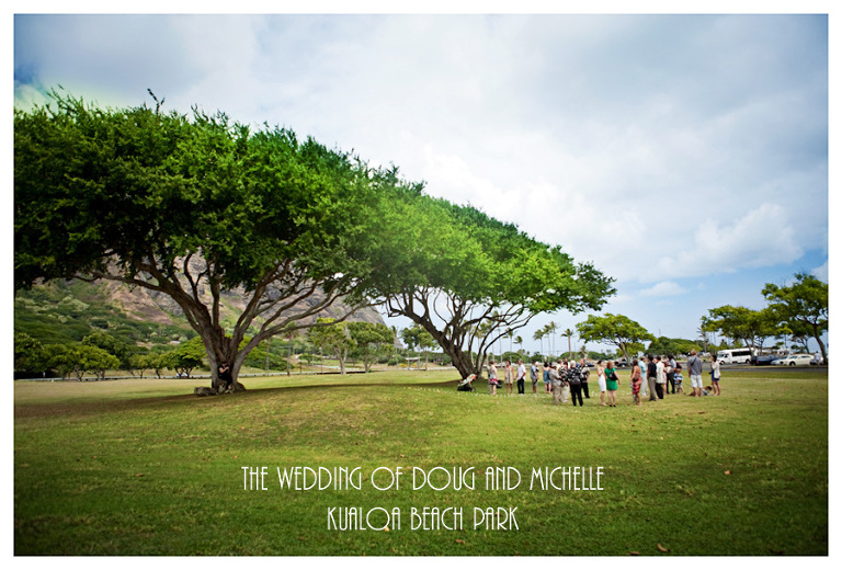 kualoa beach park wedding on Oahu