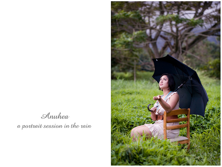 Kaneohe Hawaii senior portraits in the rain