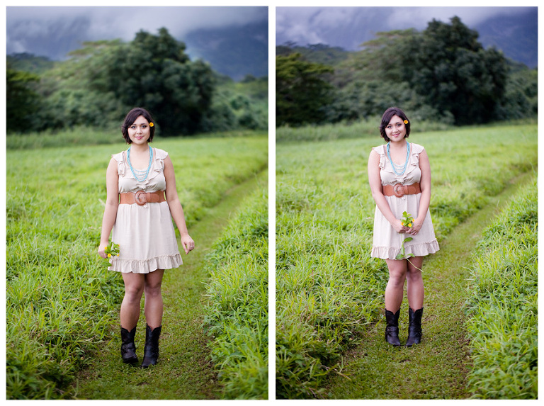 senior portraits in Maunawili Hawaii