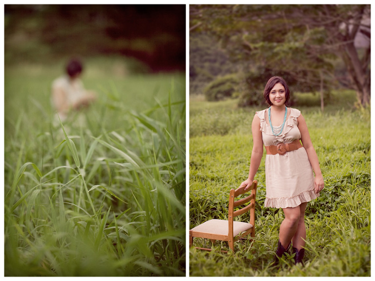 vintage themed senior portraits Hawaii
