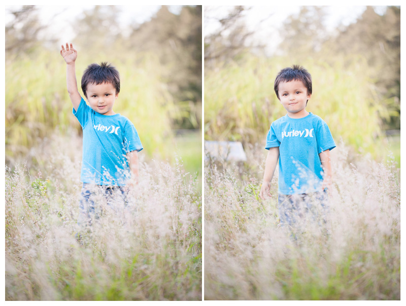 Big Island Hawaii Photograph of boy in wild field by Big Island Hawaii Photographer