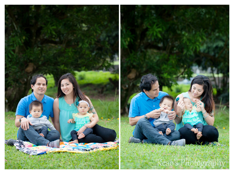Kaneohe Hawaii family photographer twins at the park