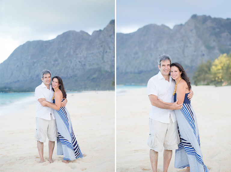 engagement photos at Waimanalo Beach by Hawaii Photographer