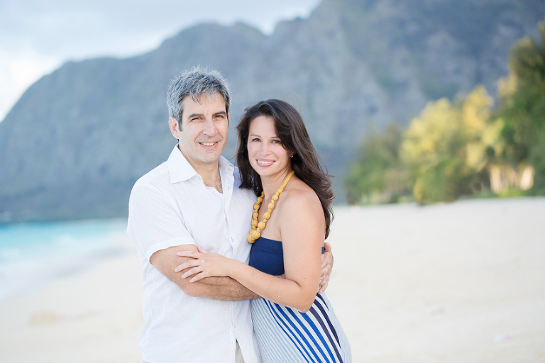 engagement photos at Waimanalo Beach by Oahu Photographer