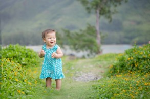 birthday photos in Kahana Valley on the north shore of Oahu