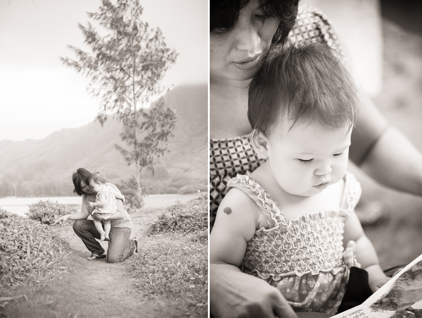 Oahu Family Photographer black and white north shore