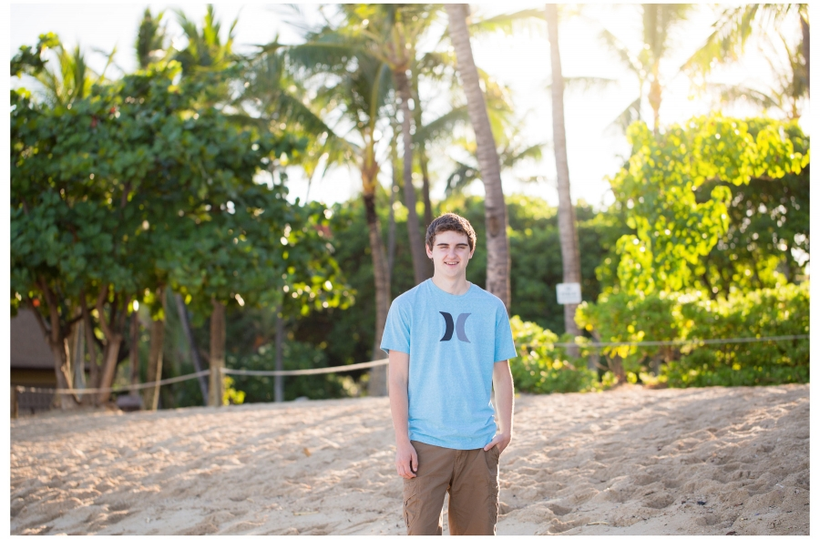 senior photo Hawaii Oahu