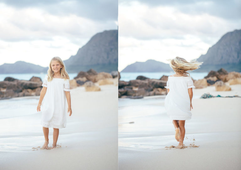 artistic children portraits on Oahu
